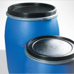 How many litres does a Blue Plastic Drum hold?