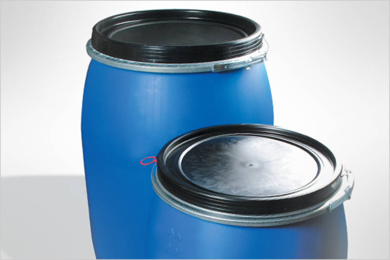 How much does a Blue Plastic Drum hold