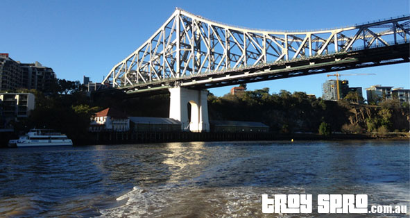 Through the Story Bridge on the City Hopper