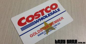 Renewing our Costco membership in store
