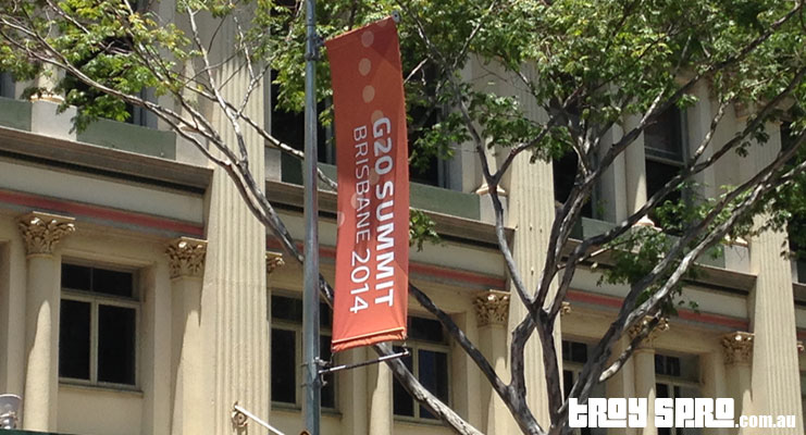 G20 Brisbane Hanging Banner with Logo