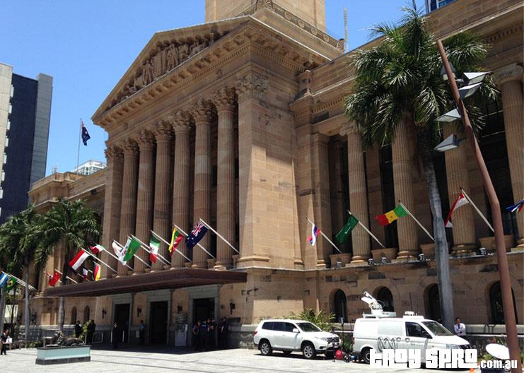 G20 Brisbane King George Square City Hall Building
