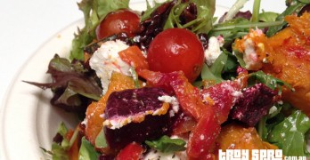 Vegetarian Mediterranean Salad and Feta, Beetroot and Pumpkin Salad at G20