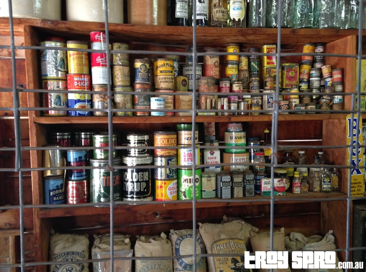 Old Baking Condiments at the Miles Historical Museum