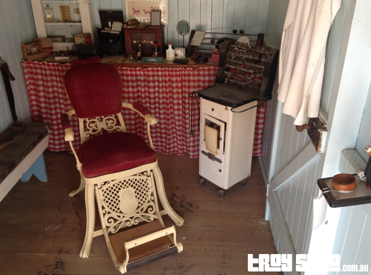 Old Barbers Chair at the Miles Historical Museum