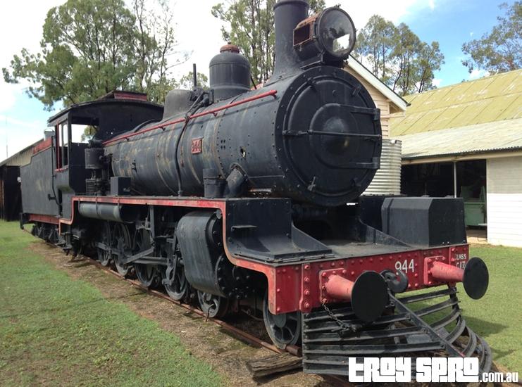 Steam Locomotive Train 944 Miles Historical Village Museum