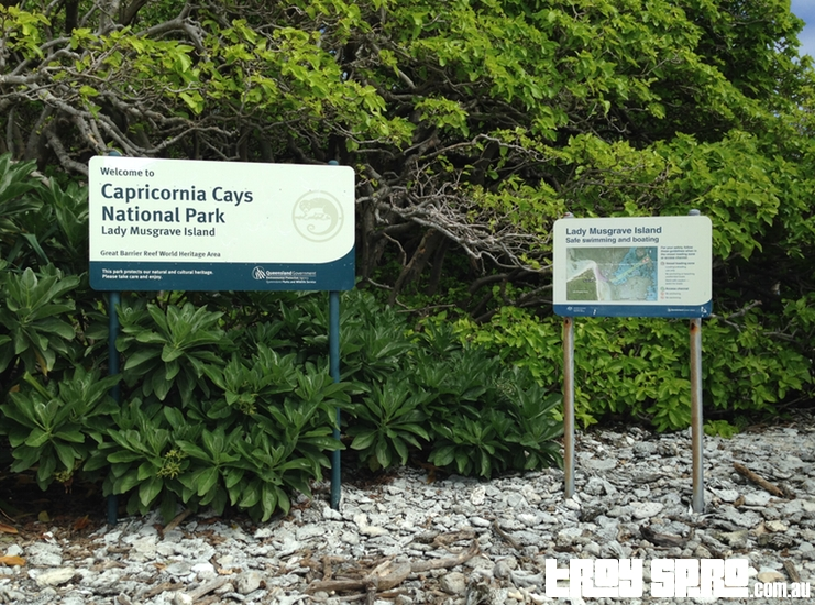 Lady Musgrave Island Welcome Signs