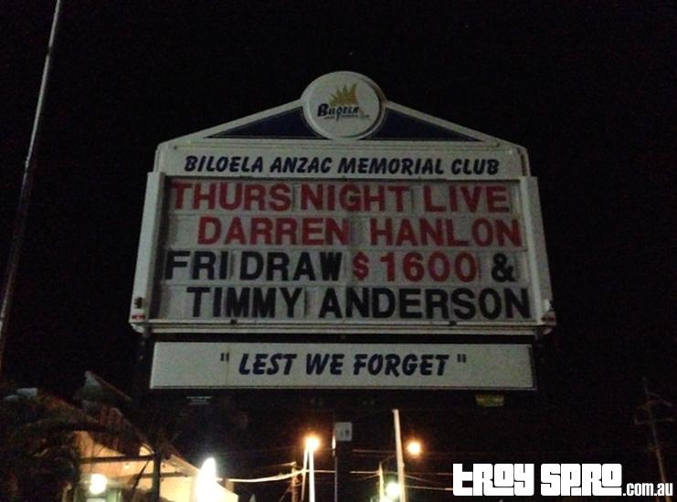 Darren Hanlon Biloela ANZAC Club