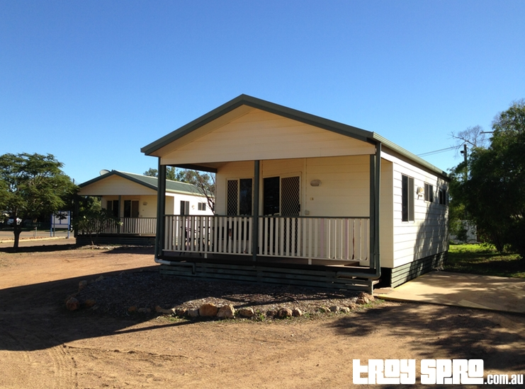 Cabins for accommodation at Longreach Tourist Caravan Park