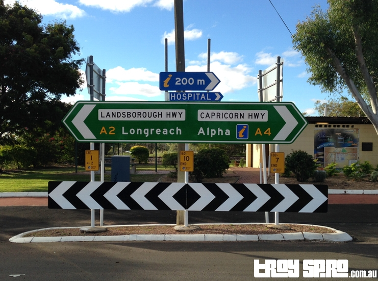 Longreach Alpha Road Sign Outback Queensland