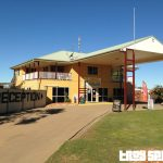 Longreach Tourist Park office for booking accommodation for caravan park