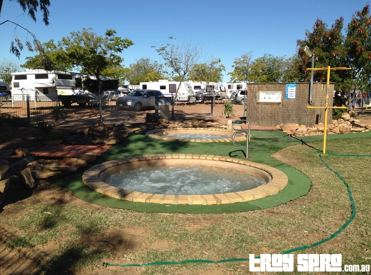 Spa pools heated pools at Longreach Tourist Park
