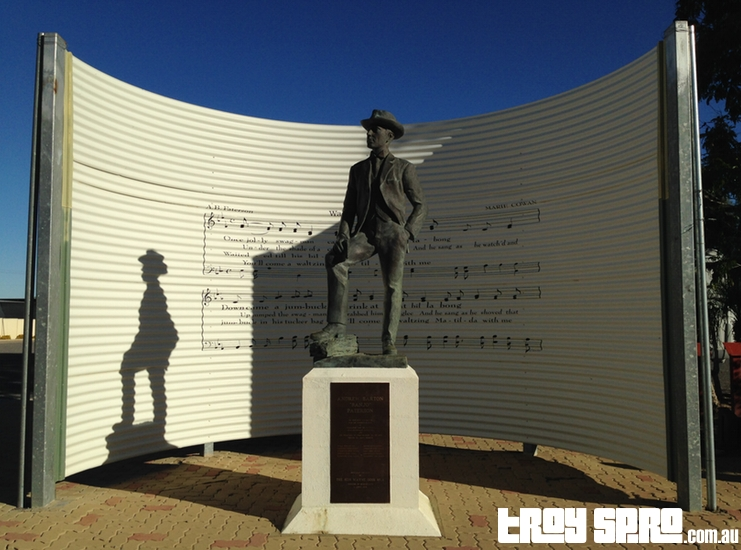Banjo Paterson Monument Waltzing Matlida Centre Qantilda Museum Winton Outback Queensland