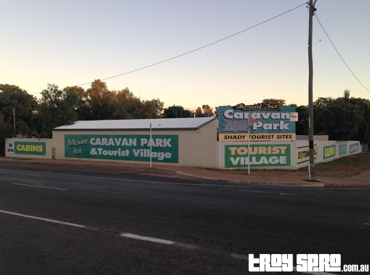 Mount Isa Caravan Park and Tourist Village Main Entrance