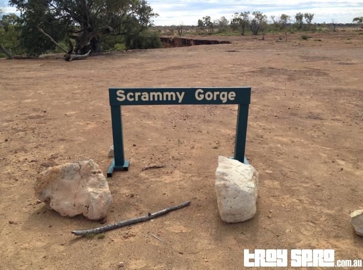 Scrammy Gorge Sign at Bladensberg National Park