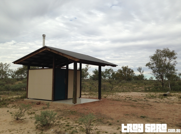 Toilet Block for Camping at Bough Shed Hole in Bladensberg National Park Queensland