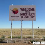 Queensland Northern Territory Border Sign
