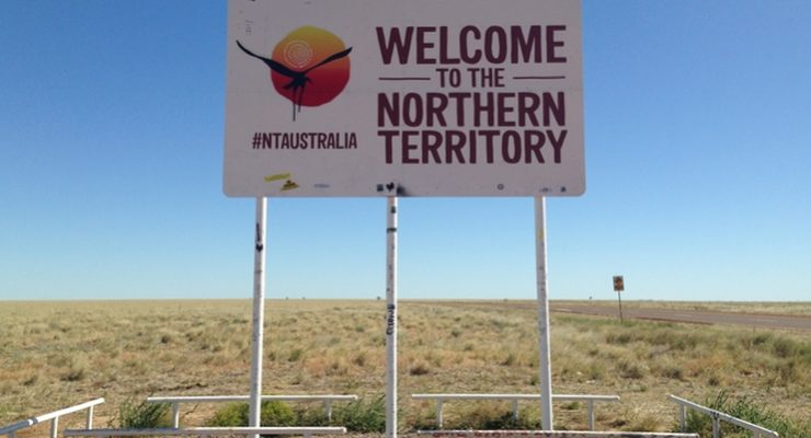 Queensland Northern Territory Border Sign