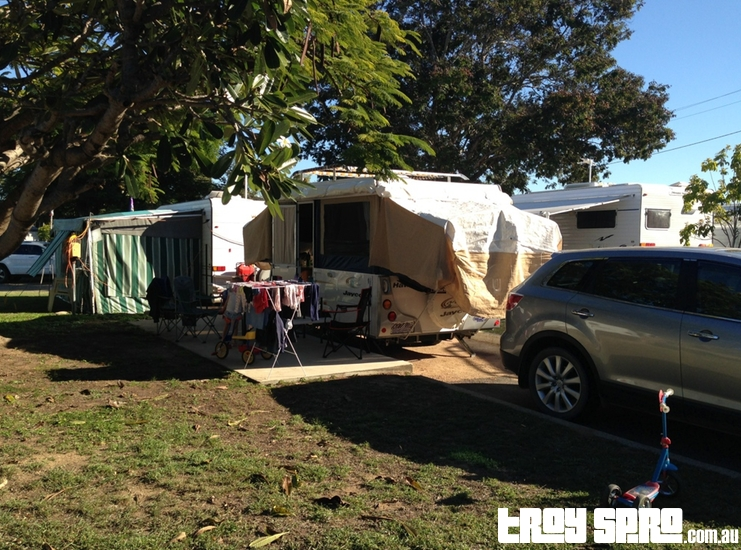 Camp Site at Rowes Bay Caravan Park