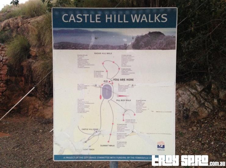 Walking Tracks on Castle Hill