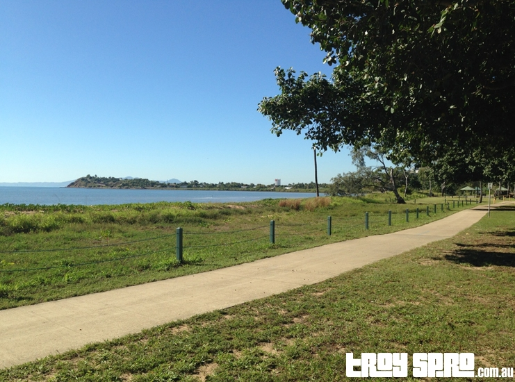 Across the road beach views and walks at the Rowes Bay Caravan Park