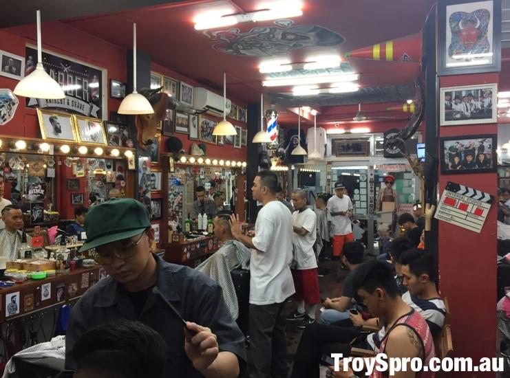 Inside Liem Barber Shop Ho Chi Minh Saigon Vietnam