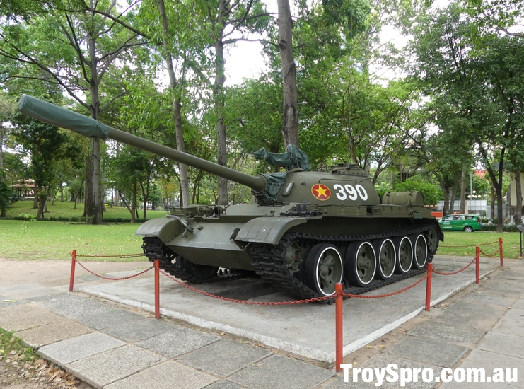 Tank at The Independence Palace Unification Palace Ho Chi Minh Saigon Vietnam