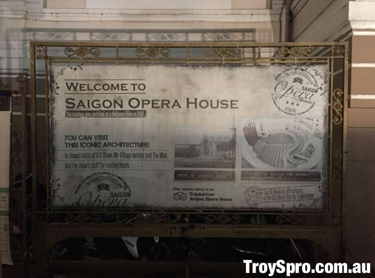 Front Sign Saigon Opera House Municipal Theatre Ho Chi Minh City