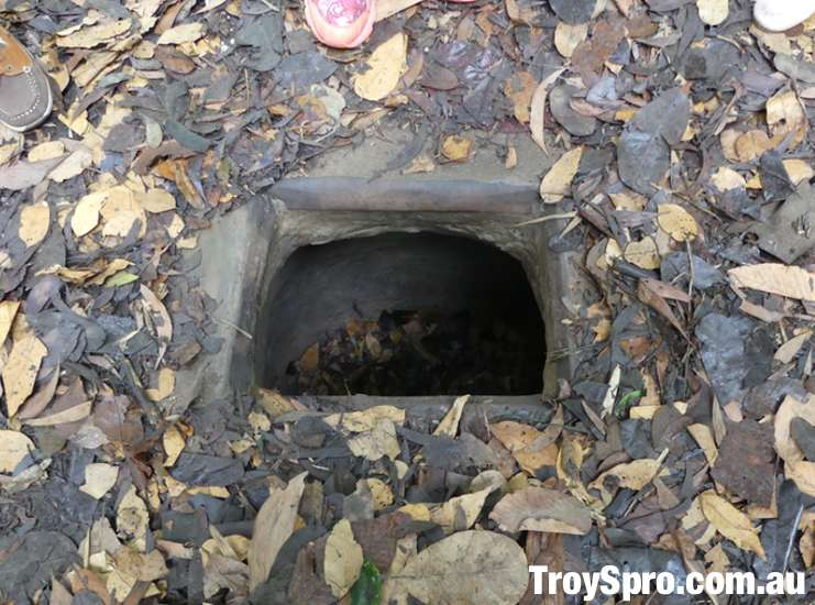 Cu Chi Tunnels Entry to Tunnel and Hiding Spot