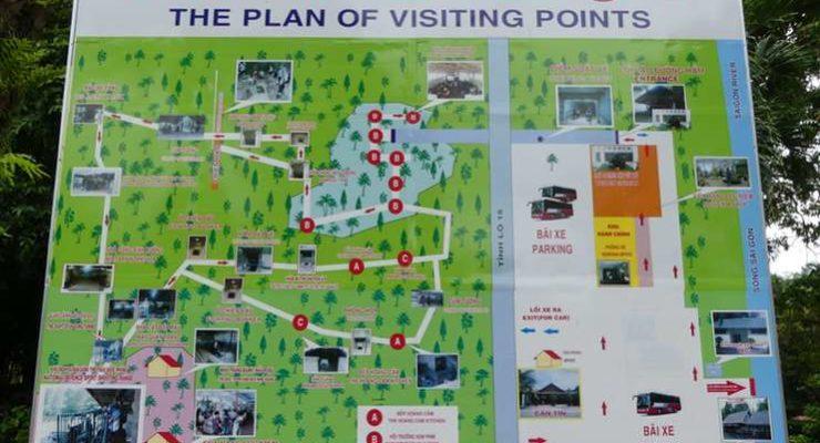 Cu Chi Tunnels Tour Map Ho Chi Minh City Saigon Vietnam