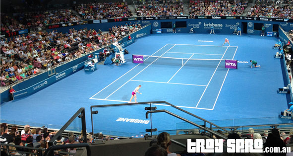 Brisbane Tennis Azarenka vs Voegele