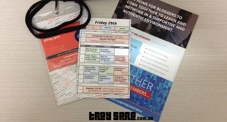 Problogger Event Schedule