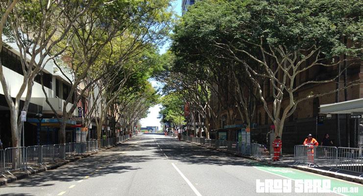 Brisbane G20 Adelaide Street Empty for Motorcades