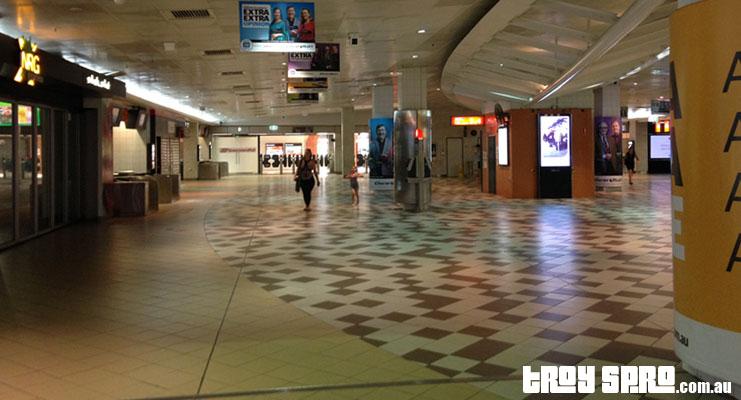 G20 Train Travel into Brisbane City with Empty Train Station