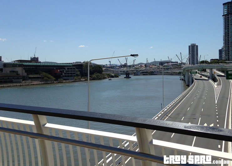 View off the Victoria Bridge during Brisbane G20