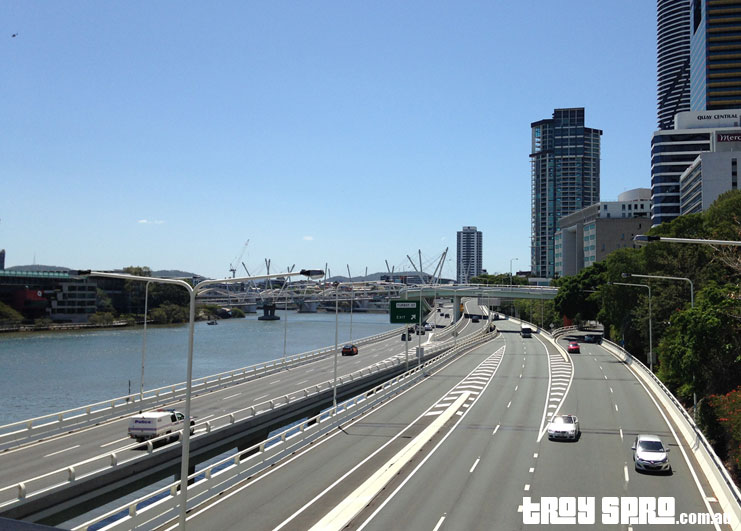 Victoria Bridge during the Brisbane G20