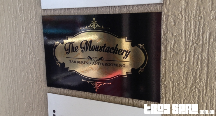 The Moustachery Bulimba Barber Shop Sign