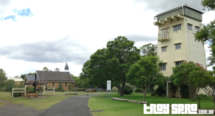 The Water Tower and The Jimbour Chapel at Jimbour Station