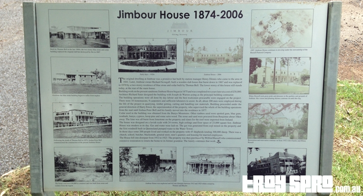 Jimbour House 1874 to 2006 Sign