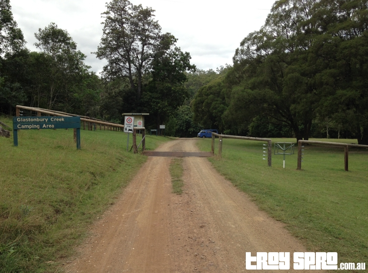 Main Entrance to Glastonbury Creek Camping Area