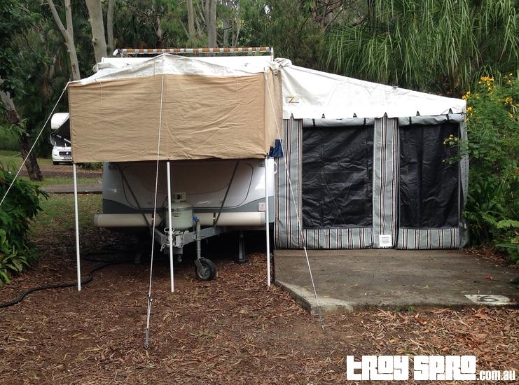 Jayco Hawk Camper Trailer Set Up Caravan Park Seventeen Seventy