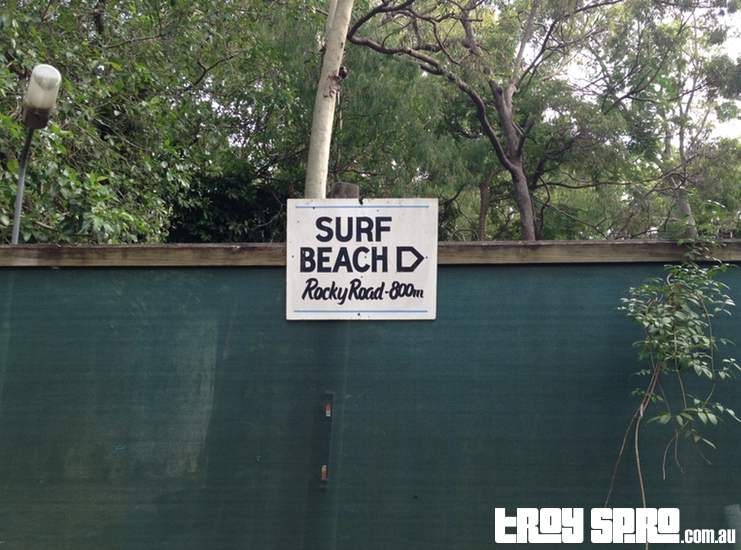Surf Beach Sign Captain Cook Holiday Village Seventeen Seventy