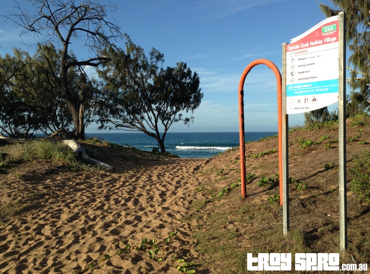 Surf Beach behind Caravan Park Seventeen Seventy