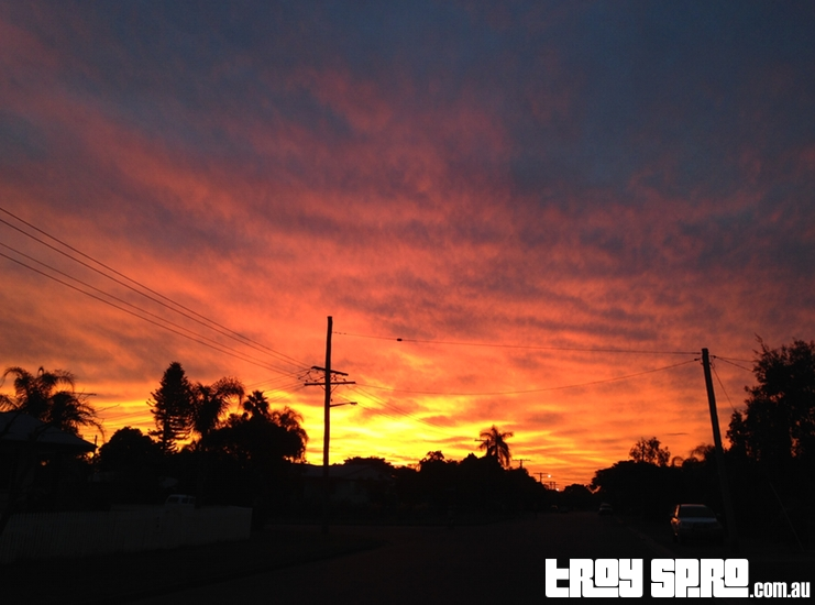 Biloela Sunset Looking Down the Road