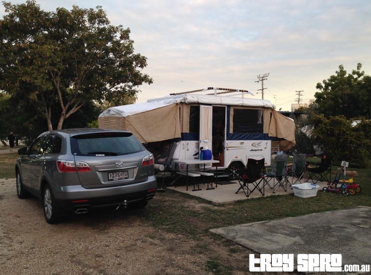 Camping at Rubyvale Caravan Park Queensland