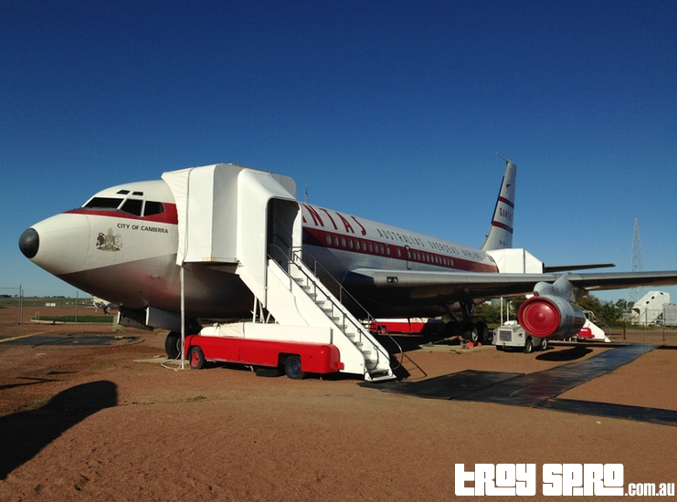 Qantas Founders Museum Boeing 707 Plane used by The Jacksons Michael Jackson