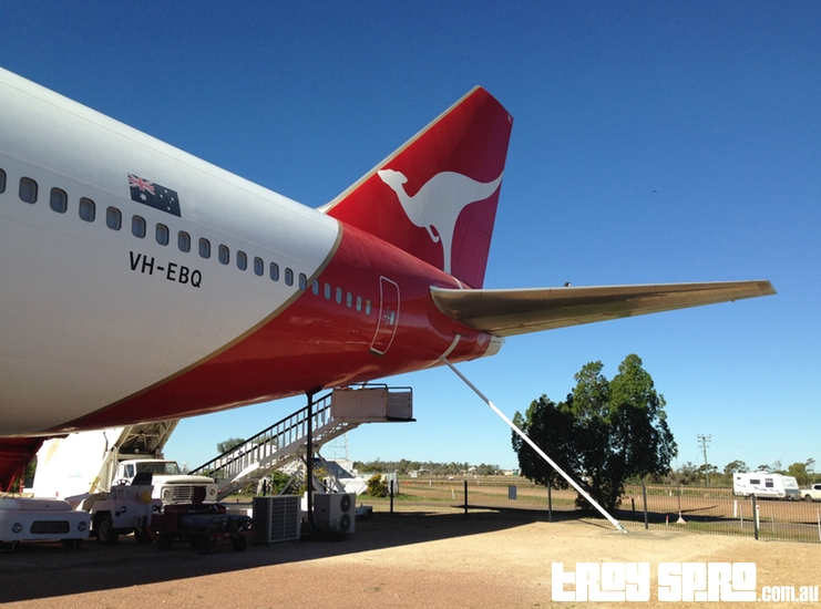 Qantas Founders Museum Boeing 747 Aircraft Tail Longreach Queensland