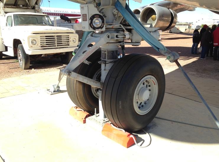 Qantas Founders Museum Boeing 747 Tyres Wheels Landing Gear