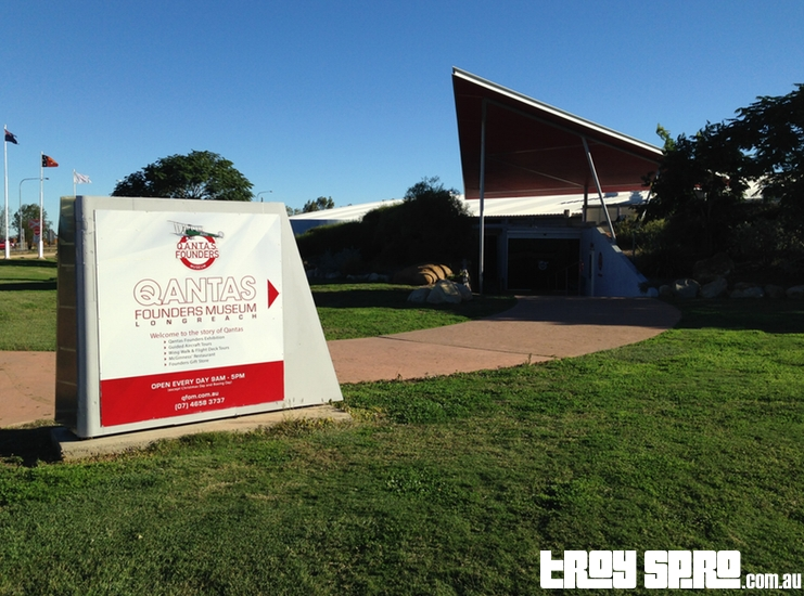 Qantas Founders Museum Main Entrance Sign Longreach Queensland