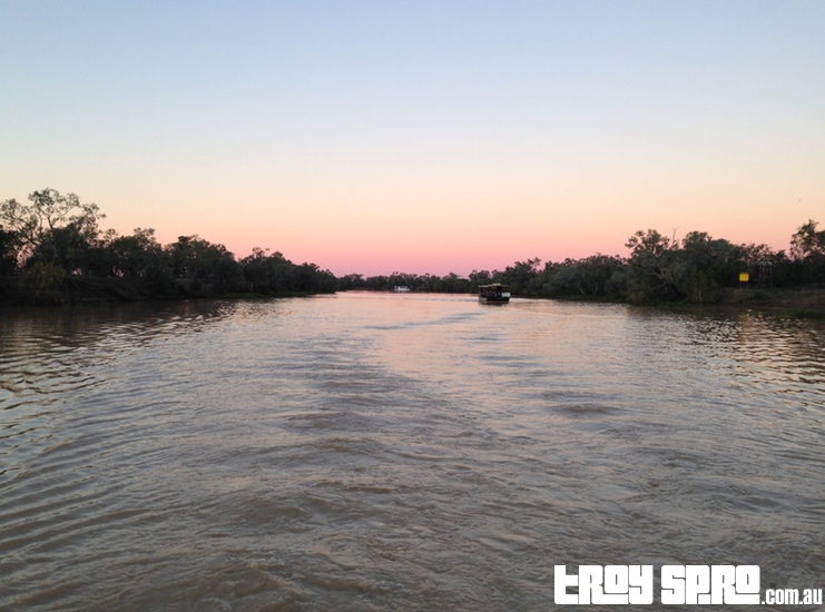 Thomson River Cruise Starlights Cruise Experience Kinnon and Co Longreach Back of Boat